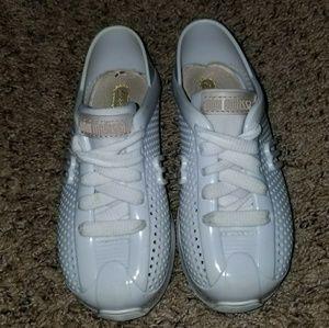Mini Melissa all white sneakers